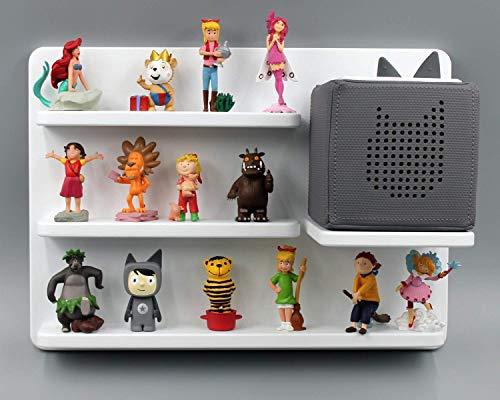 Kinder Regal für Toniebox Musikbox - Geeignet für Tonie Tonies  - zum Aufhängen weiß magnetisch - als Geschenk - tolle Geschenkidee zum Spielen und Sammeln…