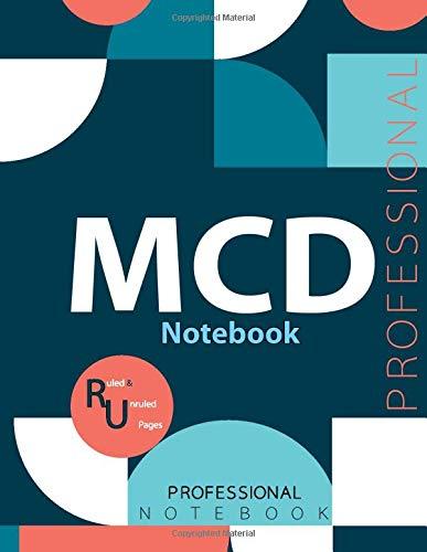 "MCD Notebook, Examination Preparation Notebook, Study writing notebook, Office writing notebook, 140 pages, 8.5"" x 11"", Glossy cover"