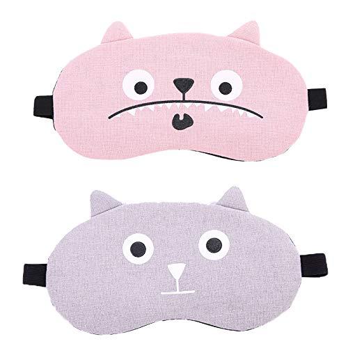 JIAHU 2pcs Eye Mask Soft Eyemask Blackout Adjustable For Sleeping Women And Men Blackouts Eye Shades