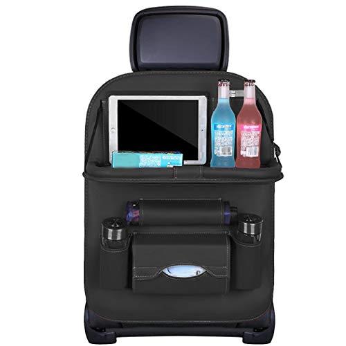Sioneit Auto-Rücksitz Multi-Pocket Organizer Getränkehalter Leder Aufbewahrungstasche Kofferraumtaschen