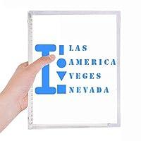 アメリカ ネバダ 硬質プラスチックルーズリーフノートノート