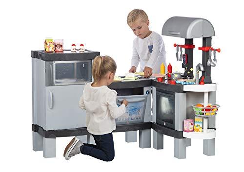 Chicos Cooking XL. Gran Modular Infantil con Efecto de Cocina Real: Los Alimentos cambian de Color Cuando se cocinan en el fogón LED. Incluye 31 Accesorios. (La Fábrica de Juguetes 85120)