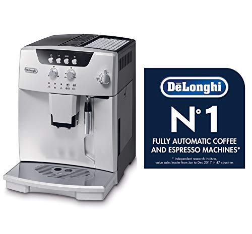 De'longhi esam04110s magnifica fully automatic espresso machine with manual cappuccino system silver 4 thermo block technology provides excellent heat distribution integrated burr grinder with adjustable settings consistent brewing every time