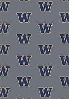 ワシントン・ハスキーズ 3 10 x 5 4インチ チームリピート エリアラグ