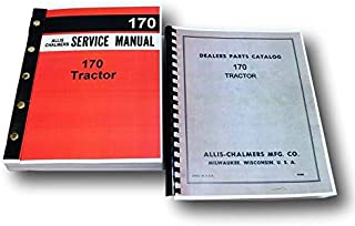 Set Allis Chalmers 170 Tractor Service Repair Manual Parts Catalog Exploded View