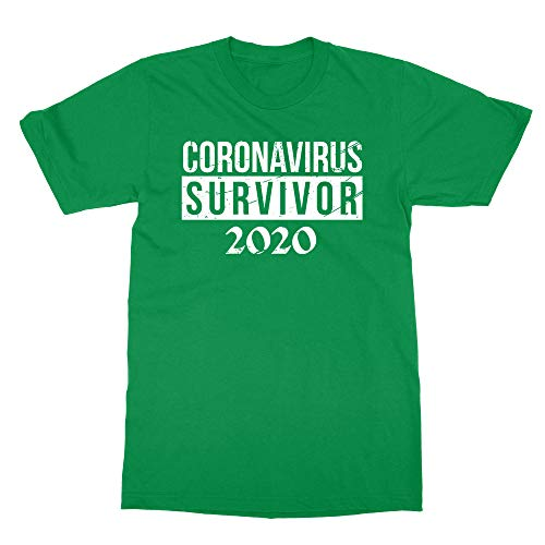 Sheki Apparel New Graphic Survivor Coronavirus 2020 Men's T-Shirt (Green, Large)