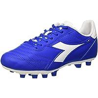 Diadora Brasil R Mdpu, Botas de fútbol para Hombre, BLU (Azzurro/Bianco), 44 EU