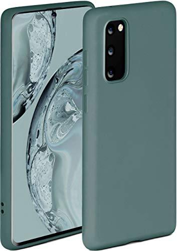 ONEFLOW Soft Hülle kompatibel mit Samsung Galaxy S20 / S20 5G Hülle aus Silikon, erhöhte Kante für Displayschutz, zweilagig, weiche Handyhülle - matt Petrol