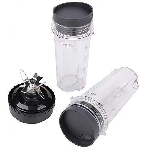 2 Pack Single Serve 16 oz Cup & Blender Blade Assembly Replacement Parts for Ninja BL740 BL770 BL780 BL660 Professional Blender