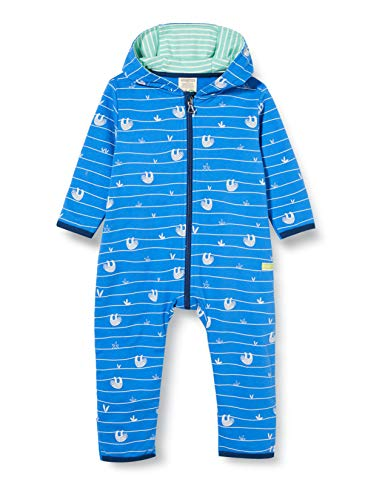 loud + proud Baby-Jungen Overall Allover Print Organic Cotton Strampler, Blau (Cobalt Cob), (Herstellergröße: 74/80)