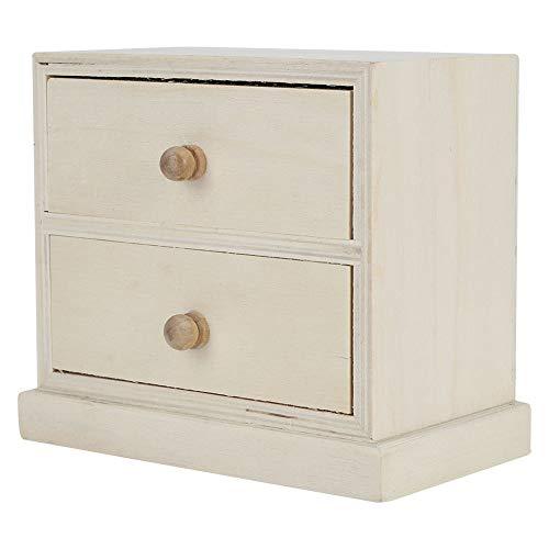 Caja de almacenamiento de escritorio simple de madera Caja de organizador de documentos de joyería de cosméticos con cajón