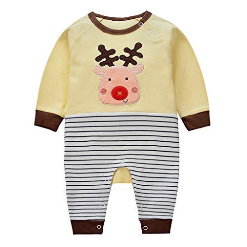 Bambino Pagliaccetto in Cotone Ragazze Ragazzi Pigiama Tutina Fumetto Outfits, 3-6 Mesi