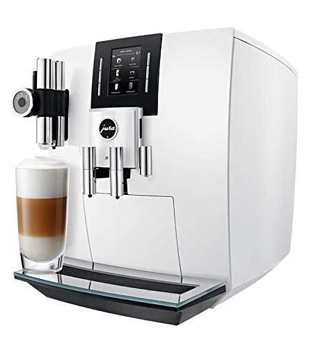 JURA J6 Independiente Máquina espresso Blanco 2,1 L 16 tazas Totalmente automática - Cafetera (Independiente, Máquina espresso, 2,1 L, Molinillo integrado, 1450 W, Blanco)