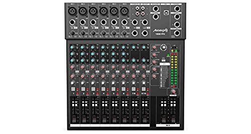 Audibax 1202 FFX - Mesa de Mezclas con 12 canales, Interfaz de Audio...