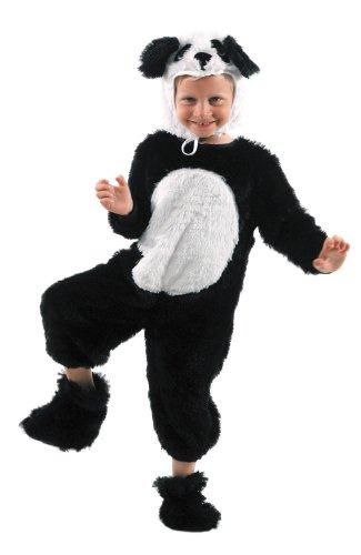 Party Pro Déguisement de Panda Boys, 87115068 Noir, 6-8 ans