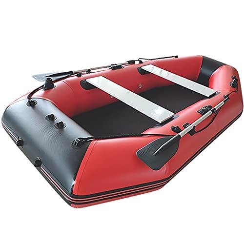 Kayac Cámara de Aire múltiple al Aire Libre Caucho Dingy Actividades al Aire Libre Kayaking Asalto Barco Rafting Barco Bote Inflable (Color : Red, Tamaño : 300X155cm)