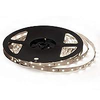 Signcomplex 12V 超高輝度 LEDテープライト 5M/300連 LED ストリップライト 正面発光 強力粘着両面テープ LEDチップSMD3528 LEDライト クリスマス飾り 広く 展示会、 舞台、家庭装飾用 ナチュラルホワイト非防水