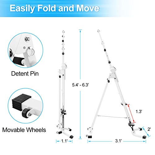 Product Image 5: Doufit Vertical Climber Exercise Machine, CM-01 Heavy Duty Folding Climbing Machine for Home Workout, Fitness Stair Climber with LCD Monitor (Max Capacity 220Lbs) (Silver)