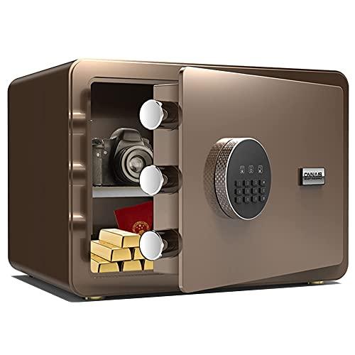 HaoLi Almacenamiento Seguro Cerradura Digital electrónica, Caja Fuerte montada en la Pared, Espacio Grande, Material de Acero de aleación, Alarma Doble/A / 35cmx25cmx25cm