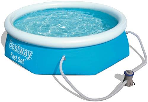 Fast Set Pool Set rund, mit Kartuschenfilterpumpe, 244x66 cm, blau