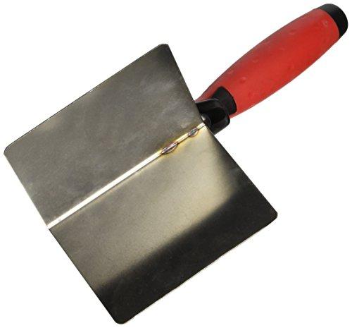 Stubai 4316122K Spatule d'Angles Extérieurs Inoxydable avec Manche Bi matière, Noir/Rouge/Argent, 110 x 75 x 75 mm