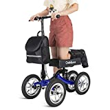 OasisSpace Shock Absorber All Terrain Knee Walker Scooter-with 12...