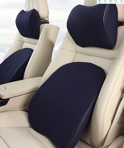 HGVFR Almohada de memoria Almohada de cuello Almohada de cintura Almohada de asiento de coche Almohada de silla de oficina (gris)