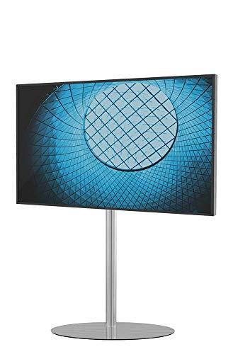 Cavus Eclips 120 Edelstahl Design TV Ständer - Verwandeln Sie Ihren Fernseher in einem Designer TV Möbel - TV Standfuß geeignet für Fernseher mit VESA 200x200-300x300-400x400