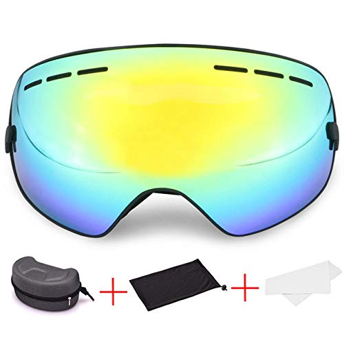 ZKAMUYLC Skibril 2019 Sneeuwbril Vrouw Winter Sport Anti-mist Skiërs Snowboarden Ski Goggles Mannen Case Adult Lens voor Ski Maskers Sneeuwscooter