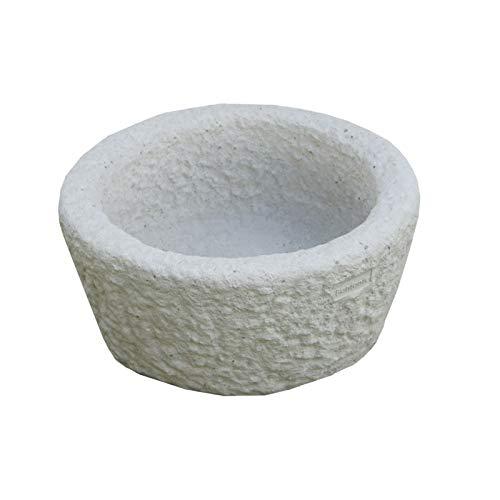 Bonfante Vaso in Pietra RICOSTRUITA Hawaii Grigio-Bianco