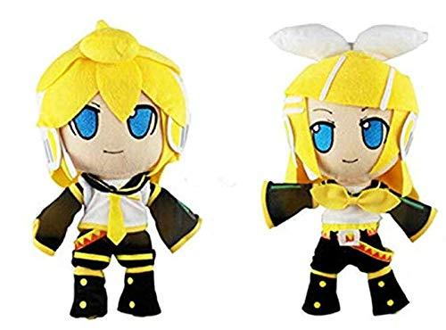 NC87 Hatsune Miku Plush Toy Cute Vocaloid Hatsune Miku Kagamine Rin Len Cute Soft Figure Cartoon Plush Toys Doll Baby Toy 30Cm 2Psc/Set