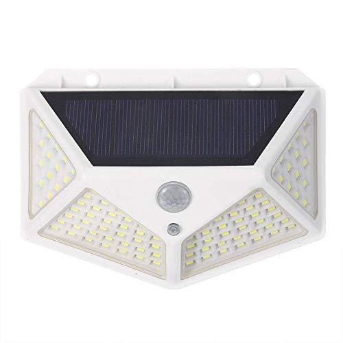 HYY-YY Iluminación al aire libre 100 LED energía solar PIR sensor de movimiento luz de pared al aire libre jardín lámpara impermeable