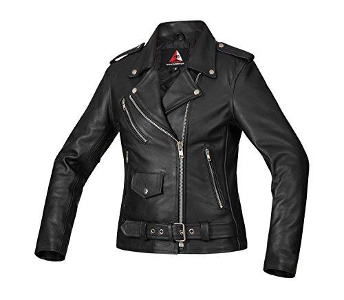 Bohmberg Premium Chaqueta de cuero para mujer - Cuero real-para motociclistas-cuero pesado - L
