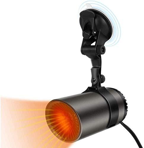 L.BAN Portable Car Heater Demister, 12V 65W Fast Heating Car Heater, 2 Modes Car Windscreen Demister Heater Defrost Defogger, Plug in Cigarette Lighter Easy Install