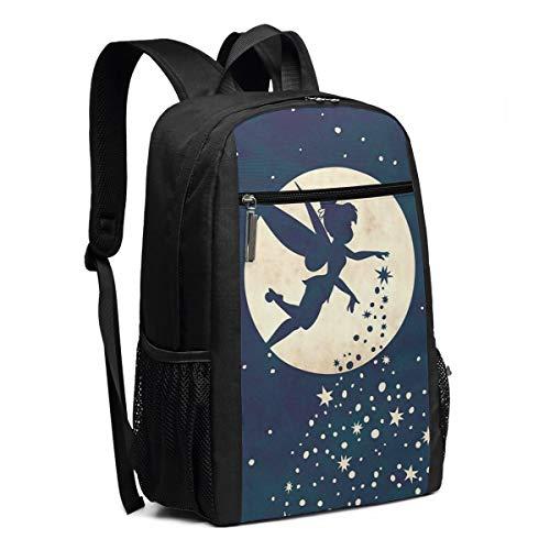 Travel Laptop Backpack Tinkerbell College School Bookbag Computer Bag Casual Daypack For Women Men