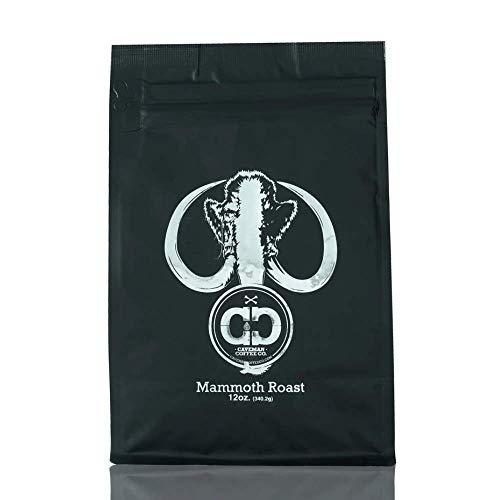 Caveman Coffee Mammoth, Medium Roast, Colombia Single Origin, Low Acidity, UTZ & Rainforest Alliance Certified, Paleo Certified, Whole Bean, 12 oz Bag