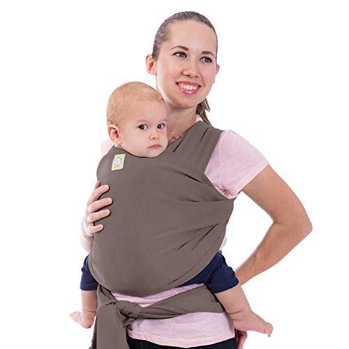 Tragetuch Alles-in-einem - Dehnbare Baby-Tragetücher - Babytrage - Kleinkindtrage - Baby-Tragetuch - Handfrei Babytragetücher – Babyparty-Geschenk - Einheitsgröße (Kupfergrau)