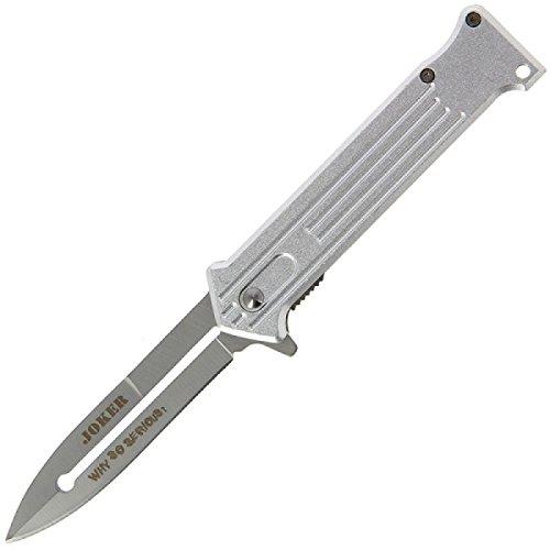BKL1® Einhandmesser Joker silber Taschenmesser Federunterstützt Batman 1407