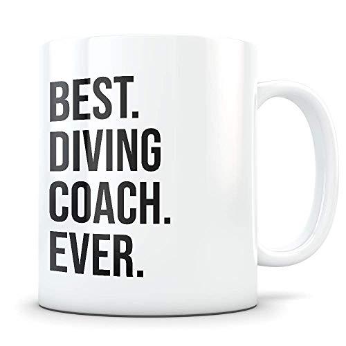 N\A Regalo de Entrenador de Buceo Taza de Entrenador de Buceo Instructor de Buceo Gracias Mejor Entrenador de Buceo Buceo