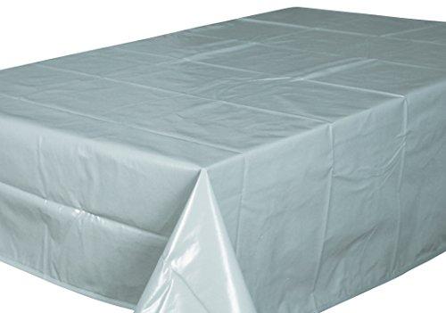 Home Direct Nappe Toile cirée PVC Rectangulaire 140 x 180 cm Uni Gris Clair
