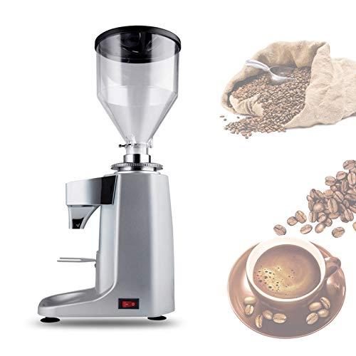 YSNJIN Professioneller Scheibenmahlwerk, Haushalt Mühle Kaffeebohnen mit Mehreren Schleifeinstellungen und Schleifscheibe für Küchen-Desktop,Silber