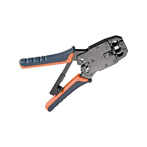 Fixpoint 50284 Crimpzange für Modularstecker RJ10, RJ11, RJ12, RJ45 inklusiv Kabelschneider und Abisolierer