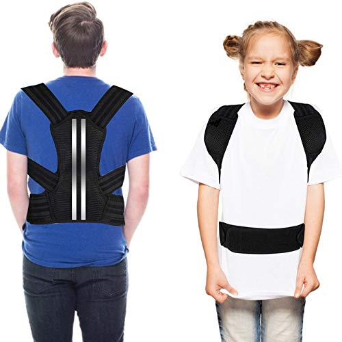 DOACT Posture Corrector for Kids and Teens Upper Back Brace to Prevent Kyphosis, Slouching, and Humpback, Adjustable Back Posture Brace Under Clothes for Boys and Girls M