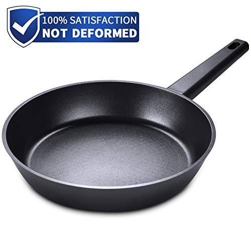 SKY LIGHT Pfanne Bratpfanne 28cm mit Antihaftbeschichtung Titanium Plus aus Aluminiumguss Omelett No-Stick Kochgeschirr für Induktion