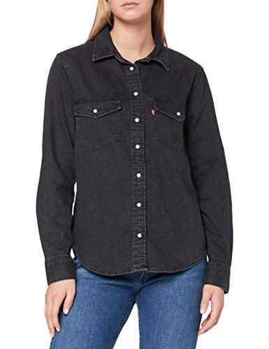 Levi\'s Essential Western Blusa, Black (Black Sheen (2) 0004), XS para Mujer