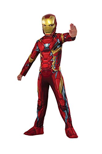 Rubie's- Iron Man Classic Civil War Disfraz para niños, L (620581)