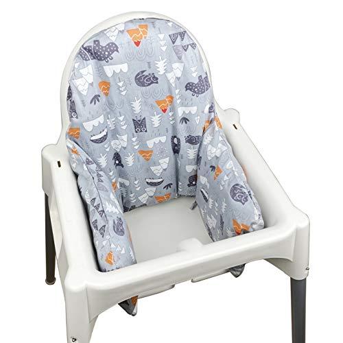 ZARPMA Funda interior de cojín hinchable IKEA Antilop para trona (sólo funda) (gris)