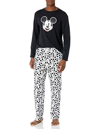 Amazon Essentials Disney Star Wars Marvel Family Matching Flannel Pajamas Sleep Sets, 2-Piece Mickey Moods, X-Small