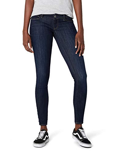 G-STAR RAW Damen 3301 Deconstructed Low Waist Skinny Jeans, Blau (dk Aged 6252-89), 27W / 32L