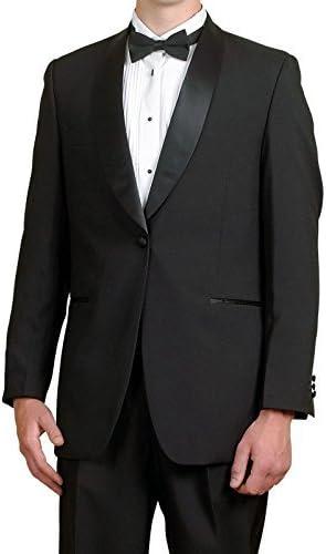 Broadway Tuxmakers Mens Black Tuxedo Jacket, Satin Shawl Lapel, Mens Dinner Jacket